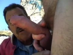 Dad Sucking Cock in Public