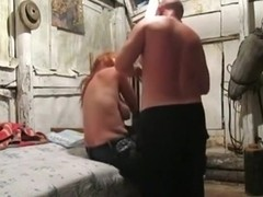 Redhead girl doesn't care if he captures the sex.