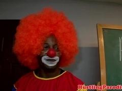 Latina blows clowning teacher