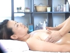 Lovely Jap babe banged hard in spy cam massage room video