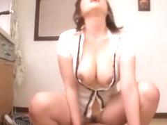 Exotic Japanese whore Hana Nonoka in Incredible Stockings, POV JAV clip