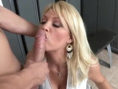 Charlee Chase gives a blowjob to Xander Corvus