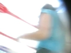 Juicy fanny caught on tape by an upskirt spy cam