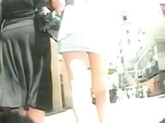 Upskirt cam shots with naughty asses on the street
