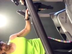 Gym gilf bulge flash big eyes 2