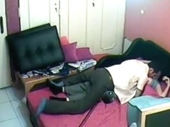 I forgot to shut off the security cam and captured them fucking in the office