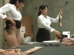 Panty Hose Factory Workers Fuck on the Assembly Line