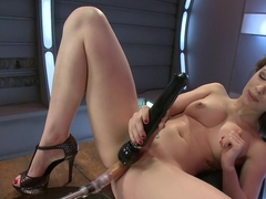 Hottest squirting, fetish xxx scene with incredible pornstar Nikita Bellucci from Fuckingmachines