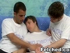 Threeway Felching Gay Cum