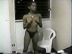 Ebony chick goes very hot