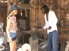 Cowgirl gets a BBC in her pussy and ass