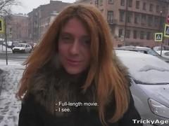 Perky redhead fucking casting