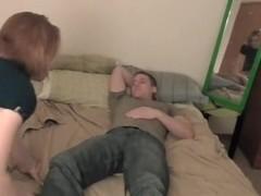 College pair mirror fuck Where should this guy cum