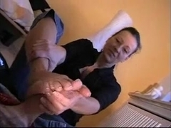 best german milf giving shoejob footjob