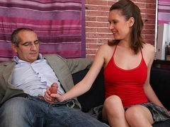 TrickyOldTeacher - Mature teacher gets blowjob from sexy student and fucks her pussy