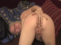 dirty blonde straight in the ass no lube