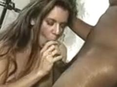 Big tit girl gets black cock