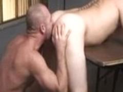 Fabulous male pornstars John West and Johnny Donovan in hottest blowjob, tattoos gay porn scene