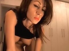 Goddes with big boobs masturbates