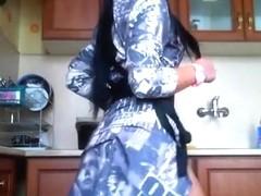 Crazy Amateur video with Webcam, Brunette scenes