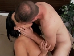 Nuaghty Angelina Castro gives a hand job and blow job before a fuck