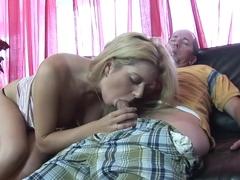 Exotic pornstar in amazing blonde, cumshots porn clip
