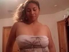 Latin sucker eats hot cum