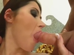 Threesome for girl in yelllow dress