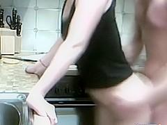 Skinny Asian In Kitchen