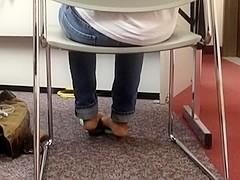 Cute Ebony Feet in Flip Flops