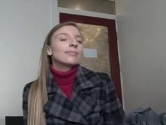 Cute Tiny student make her casting