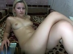 Cute blond hotty showing off