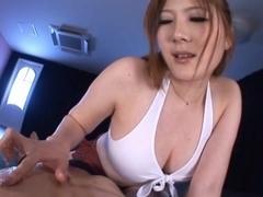 Momoka Nishina's Big Tits Oiled Up While She's Fucked