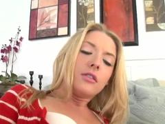 Teenage first timer Tristyn in red panties