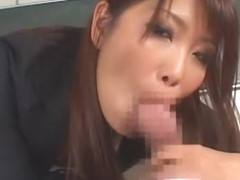 Horny Japanese chick Yuna Hoshi in Exotic Blowjob, Facial JAV movie