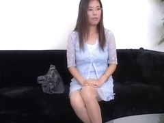 Nerdy Jap with glasses fucked in a voyeur Asian sex video