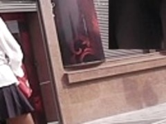Additional concupiscent teenage upskirt caught on web camera