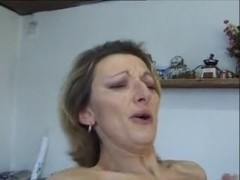 vicious talking french housewife enjoys to be ass pounded