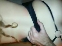 Lifted her costume and drilled her hard from behind
