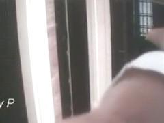 Hottie putting her ass on upskirt cam on purpose