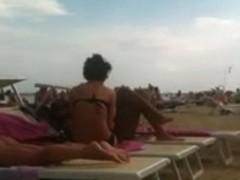 Perfect tan ass on the beach