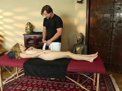 Horny pornstars Angel Smalls, Nina Elle in Crazy Blowjob, College sex movie