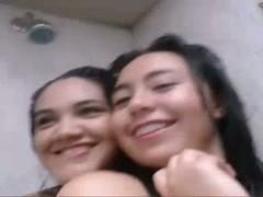 Indonesian Chicks Showering