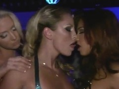 Kiara Diane, Molly Cavalli and friends in tough porn clothes go out for a cocktail party