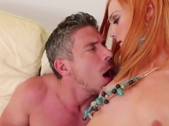 Gorgeous redhead Dani Jensen frigging with neighbour