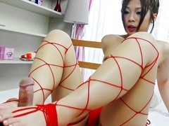 Incredible Japanese chick Toa in Exotic JAV uncensored Foot Job movie