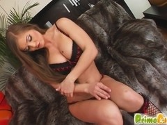 Prime Cups Sexy girl with big tits get anal fucked