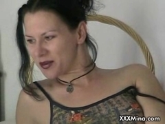 Brunette babe sucking and fucking cock on live cam