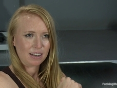 Bondage and Orgasms Athletic Ginger Babe Machine Fucked in Rope
