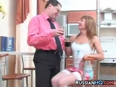 Russian MILF Wearing Stockings